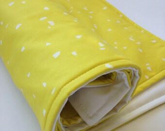 Portable Waterproof Baby Change Mat in Lemon Splash