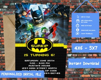 Batman Invitations,kids Invitations,Superhero Invitations,Superhero Batman Card,Batman Movie Card,Batman Birthday,Batman Party-513