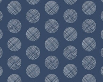 Chromatics Cotton Fabric, Pointelle in Navy Fabric, Quilting Fabric