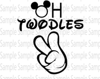 Oh toodles second Mickey birthday  SVG PNG Cut FIle