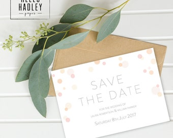 Printable wedding save the date card - Parker collection