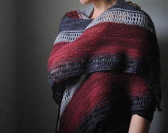 SCOLD Knitting Pattern PDF Fingering Weight Shawl