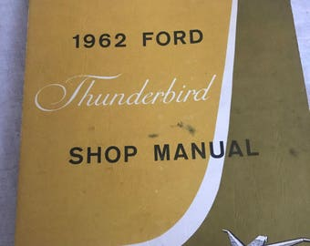 Owners manual etsy owners manual 1962 ford thunderbird excellent condition approx 86 pages divided in sections publicscrutiny Images