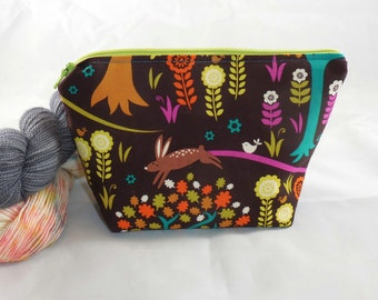 Enchanted Forest wee zippy bag by AnniePurl