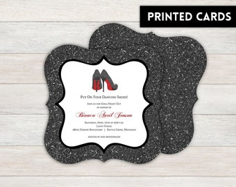 Bachelorette Party Invitations,  Personalized, Bachelorette, Bachelorette party, printed Bachelorette party invite, dancing shoes