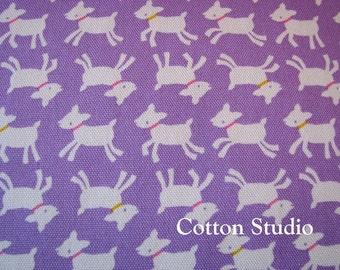 Kawaii Goat Farm Animal Japanese Fabric Lavender 1 Yard