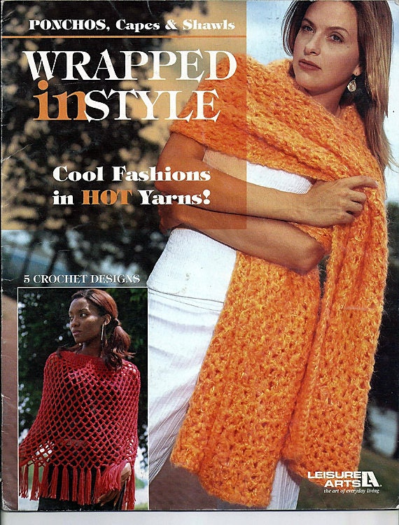Envueltos en Ponchos de estilo, capas y chales Crochet muestrario de ...
