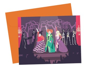 Just a Bunch of Hocus Pocus - Sanderson Sisters Halloween Card - A2 with envelope