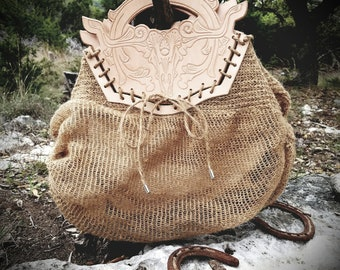 Luxury Western inspired beach or market bag OPUNTIA MANES-to market (with lining)