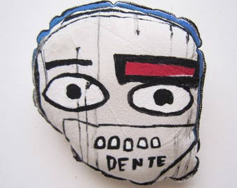 Art mask Basquiat inspiration sculpture gift teeth creative graffiti home decorative wall birthday gift anniversary graduation unisex gift
