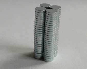 50pcs 5mm X 1mm Round Disc Strong Rare Earth Magnets Neodymium N35 craft magnets project magnets