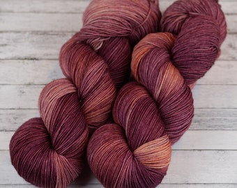 Hand Dyed Yarn / Digitalis Obscura / Variegated Yarn / Tonal Yarn / Hand Dyed Sock Yarn / Kettle Dyed Yarn / DYED TO ORDER