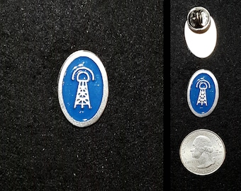 Hand Cast Tiny Tesla Tower Lapel Pin