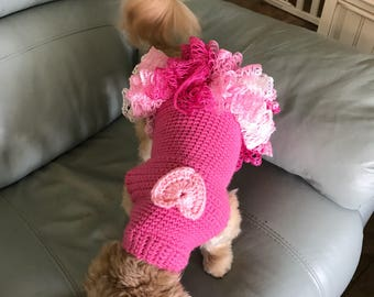 Izzys Frilly Ruffled Sweater Dress