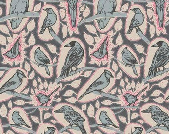 Sweet Dreams by Anna Maria Horner for Free Spirit - Cacophony - Charcoal - 1/2 yard Cotton Quilt Fabric