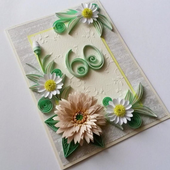 60th birthday card handmade birthday card floral 60th like this item bookmarktalkfo Image collections