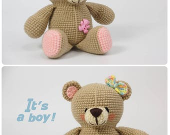 Baby shower gift Plush teddy bear Baby keepsake Stuffed bear New baby gift Nursery decor Mothers day gift Baby shower decor Stuffed animals