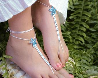 Starfish Barefoot Sandals, Beach Wedding Foot Jewelry, Bridesmaid Gift