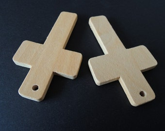 "4 Pcs Big 80X47.5(3 3/20"" x1 9/10"")mm Wood  Cross Unfinished Wooden Cross  for  your handmade    (W080)"