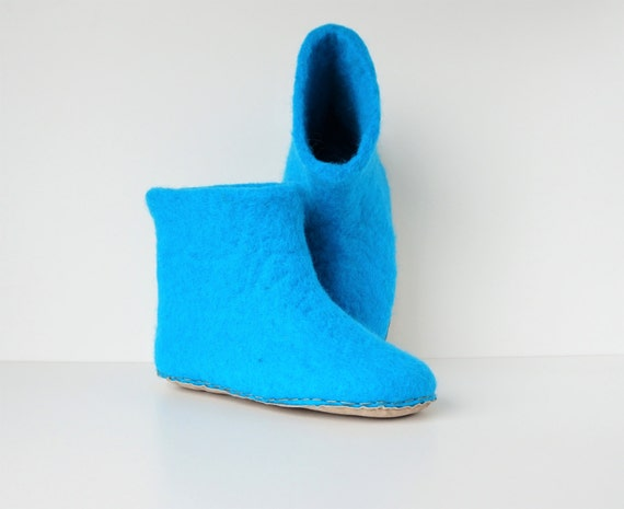 slippers felt men slippers blue booties wool Felt felted felted women slippers slippers booties slippers natural xEqXOWT5