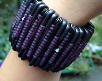 fashion flexible safety pin bracelet