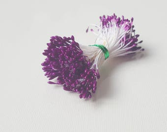 Stamens of flowers purple color shade Eggplant Pearl 2mm