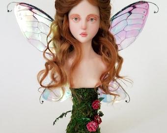 OOAK Faery Art Doll Bust Sculpture #1001 by LSAD