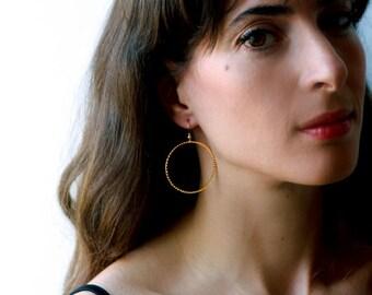 Gold hoop earrings, hoop earrings, 14k hoop earrings, gold earrings, big hoop earrings, big hoops