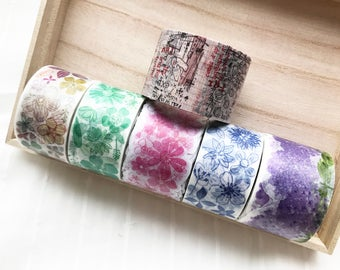 Sample - washi tape samples Chamil Garden vol.6 RT flowers 60cm <W101>