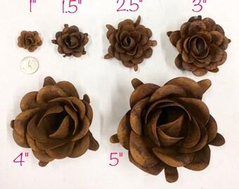 """Rustic metal rose-approx 1"""""""
