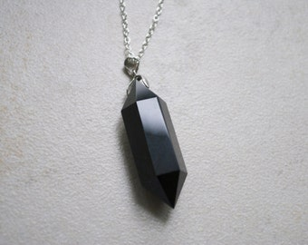 Polished Obsidian Point  Pendant/Necklace/Choker