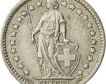 switzerland 1/2 franc 1962 bern ef(40-45) silver km23