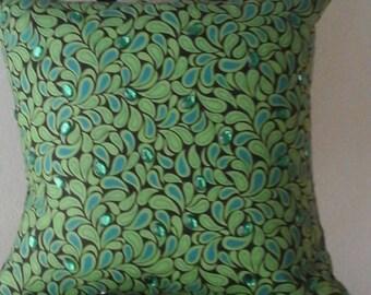 Green Decorative throw Pillow