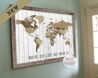 Map gift etsy more colors world map push pin gumiabroncs Image collections