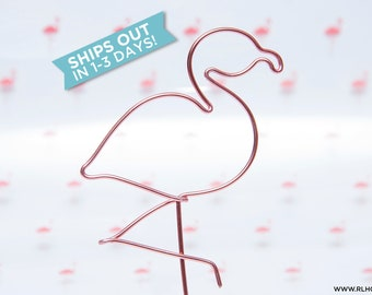 Flamingo Cake Topper / Wire Cake Topper / Summer Cake Topper / Flamingo Birthday Topper / Flamingo Party / Tropical Party / Flamingle Party