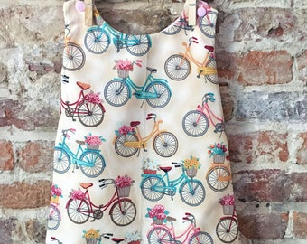 Vibrant Bicycle A-Line Dress