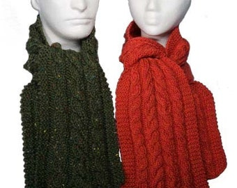 Easy Cable Scarves Pattern - Knitting Pattern PDF