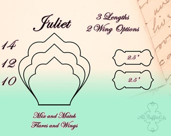 """Juliet/3 Length Bundle/Cloth Pad Sewing Pattern/2.5"""" Snapped Width"""
