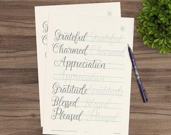 November 2016 Practice Sheets for Happy Lettering Challenge
