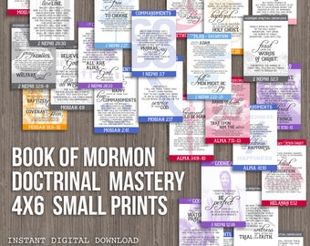 4X6 Book of Mormon Doctrinal Mastery Posters for LDS Seminary-DIGITAL DOWNLOAD