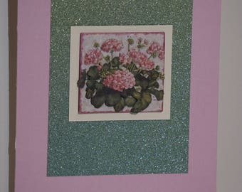 Hydrangea, Pink and Green