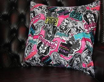 Monster High Inspired Cushion Cover