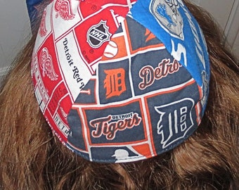 Detroit many teams yarmulke or kippah Lions Red Wings Tigers Pistons  professional sports yamaka great gift for him under 20 dollars