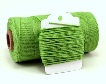 Green Baker's Twine - Green Solid Divine Twine - Kelly Green Twine - Lime Green String - Shamrock Twine - St. Patricks Day Crafting String