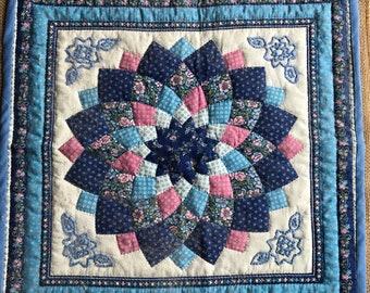 Gorgeous Blue Floral Quilting Piece