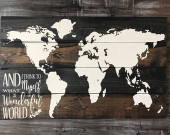 Wood world map etsy add to added world map gumiabroncs Image collections