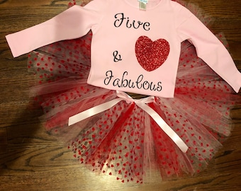 "Big Girls Tutu outfit for any occasion ""five and fabulous"""