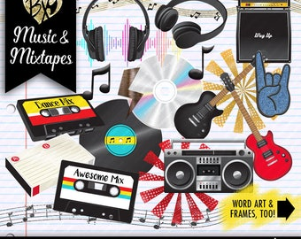 Music and Mixtapes CLIPART ONLY