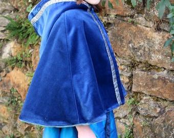 Cape pour princesse médiévale, taille 8 / 10 ans