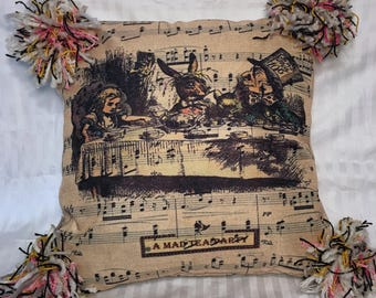 Tea Party Time - Alice in Wonderland - Punky Pillow Cover